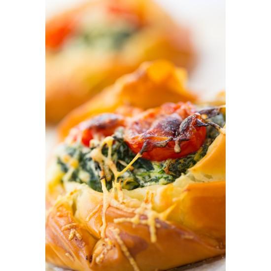 Spinach, Mushroom & Ricotta Filo Tart